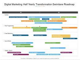 Digital Marketing Half Yearly Transformation Swimlane Roadmap