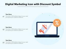 Digital Marketing Icon With Discount Symbol