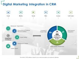 Digital Marketing Integration In CRM Hosted Infrastructure Ppt Powerpoint Presentation Guidelines