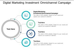 Digital Marketing Investment Omnichannel Campaign Ppt Powerpoint Presentation Slides Graphics Cpb