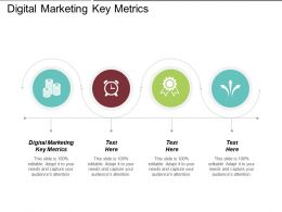 Digital Marketing Key Metrics Ppt Powerpoint Presentation File Slide Cpb
