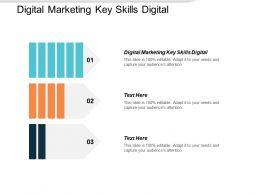 Digital Marketing Key Skills Digital Ppt Powerpoint Presentation Show Design Templates Cpb