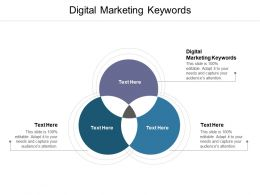 Digital Marketing Keywords Ppt Powerpoint Presentation Infographic Template Deck Cpb