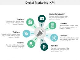 Digital Marketing KPI Ppt Powerpoint Presentation Inspiration Background Image Cpb
