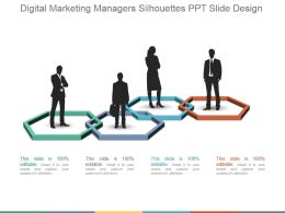Digital Marketing Managers Silhouettes Ppt Slide Design