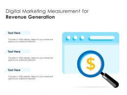 Digital Marketing Measurement For Revenue Generation