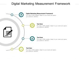 Digital Marketing Measurement Framework Ppt Powerpoint Presentation Summary Tips Cpb