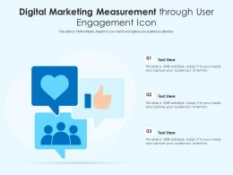 Digital Marketing Measurement Through User Engagement Icon