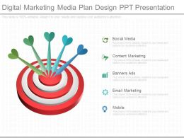 Digital Marketing Media Plan Design Ppt Presentation