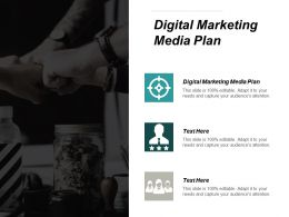Digital Marketing Media Plan Ppt Powerpoint Presentation File Deck Cpb