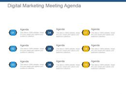 Digital Marketing Meeting Agenda Ppt Background Graphics