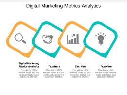 Digital Marketing Metrics Analytics Ppt Powerpoint Presentation Icon Outline Cpb