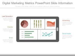 Digital Marketing Metrics Powerpoint Slide Information