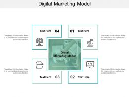 Digital Marketing Model Ppt Powerpoint Presentation Gallery Slides Cpb
