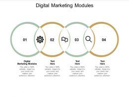 Digital Marketing Modules Ppt Powerpoint Presentation Gallery Slides Cpb