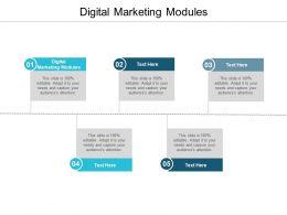 Digital Marketing Modules Ppt Powerpoint Presentation Model Graphics Tutorials Cpb