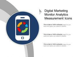 Digital Marketing Monitor Analytics Measurement Icons 01