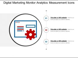 Digital Marketing Monitor Analytics Measurement Icons