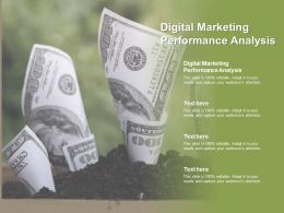 Digital Marketing Performance Analysis Ppt Powerpoint Presentation Styles Slides Cpb
