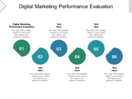 Digital Marketing Performance Evaluation Ppt Powerpoint Presentation File Slides Cpb