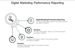Digital Marketing Performance Reporting Ppt Powerpoint Presentation Ideas Cpb