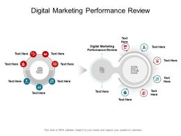 Digital Marketing Performance Review Ppt Powerpoint Presentation Icon Portfolio Cpb