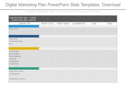 Digital Marketing Plan Powerpoint Slide Templates Download