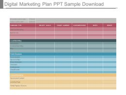 Digital Marketing Plan Ppt Sample Download