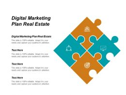Digital Marketing Plan Real Estate Ppt Powerpoint Presentation Gallery Graphics Example Cpb