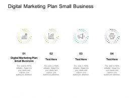 Digital Marketing Plan Small Business Ppt Powerpoint Presentation Professional Design Inspiration Cpb