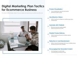 Digital Marketing Plan Tactics For Ecommerce Business