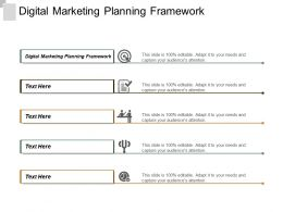 Digital Marketing Planning Framework Ppt Powerpoint Presentation Infographic Template Slide Cpb
