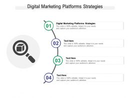 Digital Marketing Platforms Strategies Ppt Powerpoint Presentation Layouts Show Cpb