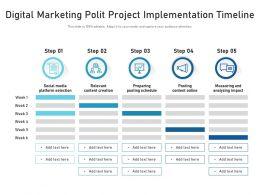 Digital Marketing Polit Project Implementation Timeline