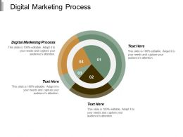 Digital Marketing Process Ppt Powerpoint Presentation Infographic Template Brochure Cpb