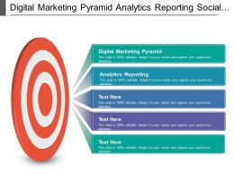 Digital Marketing Pyramid Analytics Reporting Social Media Marketing