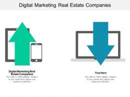 Digital Marketing Real Estate Companies Ppt Powerpoint Presentation Model Visuals Cpb