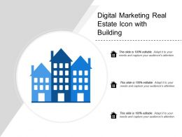 Digital Marketing Real Estate Icon With Building