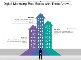 Digital Marketing Real Estate With Arrow Upward