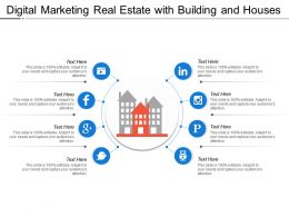 Digital Marketing Real Estate With Building And Houses