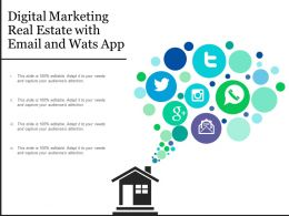 Digital Marketing Real Estate With Email And Wats App