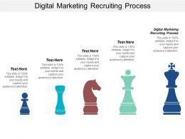Digital Marketing Recruiting Process Ppt Powerpoint Presentation Gallery Design Ideas Cpb