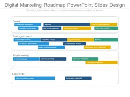 Digital Marketing Roadmap Powerpoint Slides Design