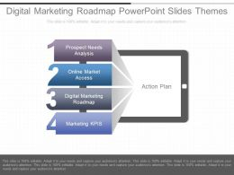 Digital Marketing Roadmap Powerpoint Slides Themes