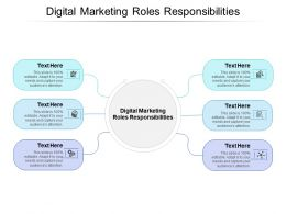 Digital Marketing Roles Responsibilities Ppt Powerpoint Presentation Pictures Grid Cpb
