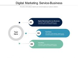 Digital Marketing Service Business Ppt Powerpoint Presentation Ideas Templates Cpb