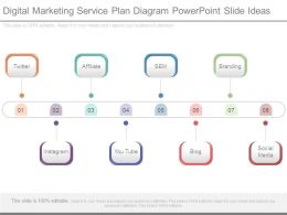 Digital Marketing Service Plan Diagram Powerpoint Slide Ideas