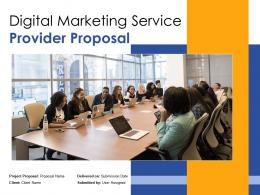 Digital Marketing Service Provider Proposal Powerpoint Presentation Slides
