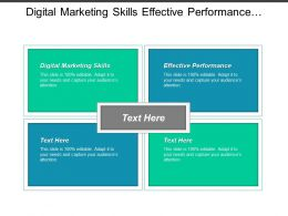 Digital Marketing Skills Effective Performance Effective Performance Management Cpb
