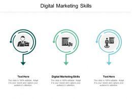 Digital Marketing Skills Ppt Powerpoint Presentation File Maker Cpb